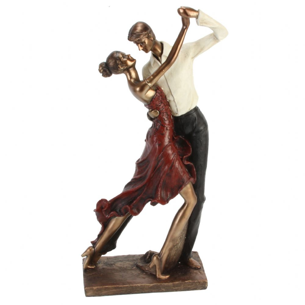 Large Bronze Couple Dancing Figurine Special 25th 40th